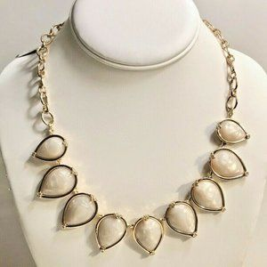 Laundry by Shelli Segal Gold Swirl Bead Necklace